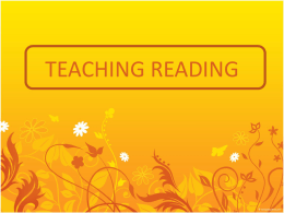 TEACHING READING - Amazon Web Services