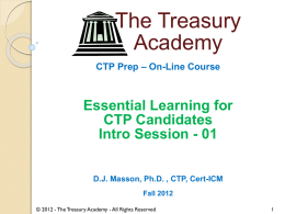 CTP Prep – On-Line Course