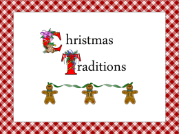 Christmas Traditions - Mrs. Smith's 1st Grade Room