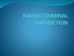 NAVAJO CRIMINAL JURISDICTION