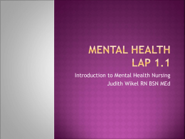 Mental Health Lap 1.1 - Canadian Valley Technology Center