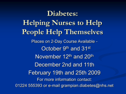 Are you managing people with diabetes? Would you like to