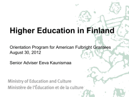 Higher Education in Finland Orientation Program for