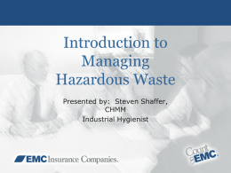 Hazardous Waste Generator Training