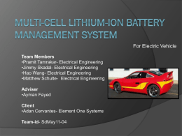 LithiumIon Battery Char