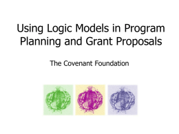 Using Logic Models in Prorgam Planning and Grant Proposals