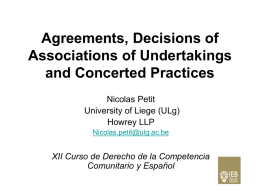 Agreements, Decisions of Associations of Undertakings and