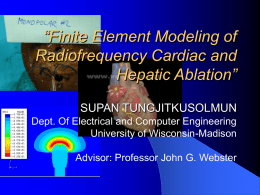 Finite Element Modeling of Radiofrequency Cardiac and