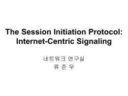 The Session Initiation Protocol: Internet