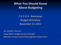What You Should Know About Budgeting Florida Association