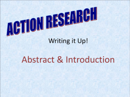 ACTION RESEARCH Chapter 6: Data Analysis