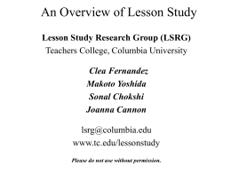 An Introduction to Lesson Study