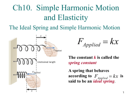 Ch10 Simple Harmonic Motion and Elasticity