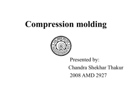 Compression molding - Welcome to AML 883