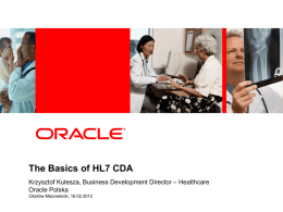 Oracle experiences from eHealth projects across Europe
