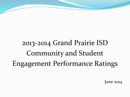 HB 5 Sec. 39.0545 - Grand Prairie Independent School District