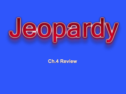 POWERPOINT JEOPARDY - Mill Valley School District
