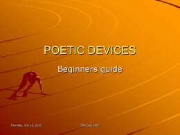 POETIC DEVICES - English teaching resources