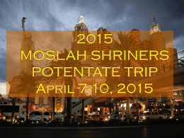 2015 MOSLAH SHRINERS POTENTATE TRIP