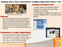 Singing like a Fish: Innovative Ideas Through Access, Use