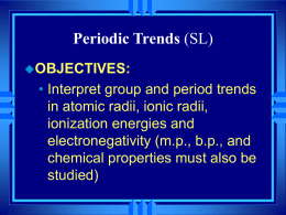 Chapter 14 - Chemical Periodicity