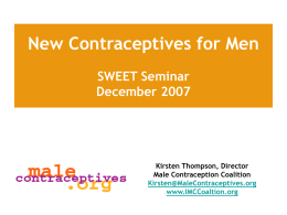 New Contraceptives for Men - Johns Hopkins Bloomberg