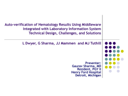 Autoverification of Hematology Results Using Middleware