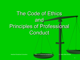 The Code of Ethics and Principles of Professional Conduct