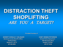 SHOPLIFTING- ARE YOU A TRAGET