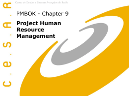 PMBOK - Charter 9 - Project Human Resource Management