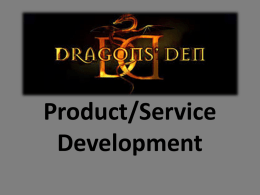 Product/Service Development