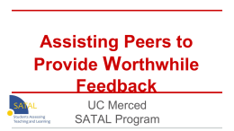 Assisting Peers to Provide Worthwhile Feedback