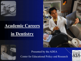 Future of Dental School Faculty
