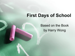 First Days of School - Newport News Public Schools