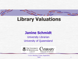 Library Valuations