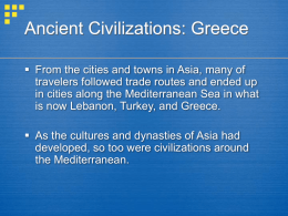 Ancient Civilizations: Greece