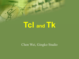 Tcl and Tk presentation
