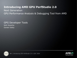 Introducing GPU PerfStudio 2.0