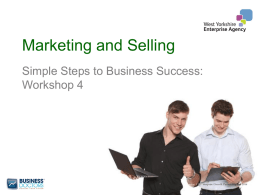 Marketing and Selling