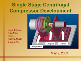 Miniature Centrifugal Compressor Development