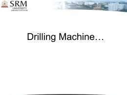 Drilling Machine … - SRM University | Home