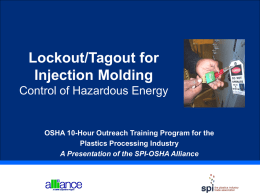 Lockout/Tagout for Injection Molding