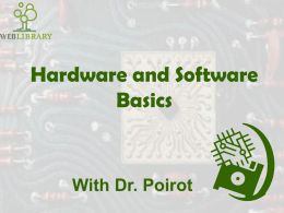 Hardware Basics - Tcet Home Page | TCET