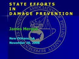 STATE EFFORTS IN DAMAGE PREVENTION