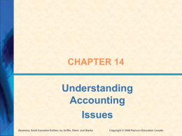 Ch 14 - Accounting - Pearson Education Canada