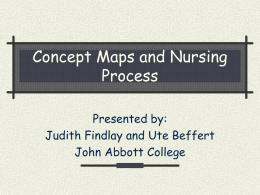 Concept Maps and Nursing Process
