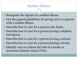 Sudden Illness I - Harford Community College