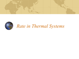 Rate in Thermal Systems - University High School
