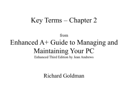 Key Terms – Chapter 2 from Enhanced A+ Guide to Managing