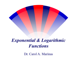 Exponential & Logarithmic Functions